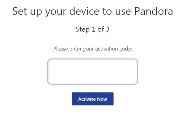 Online Instructions to Activate Pandora TV App on Roku Device