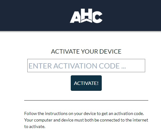 How to Activate AHC GO App on Roku, Apple TV and Other Devices