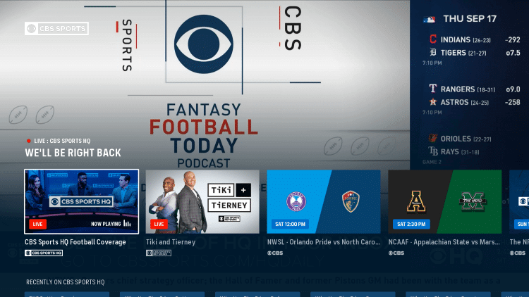 How to Activate and Watch CBS Sports on Roku, Fire TV, Apple TV
