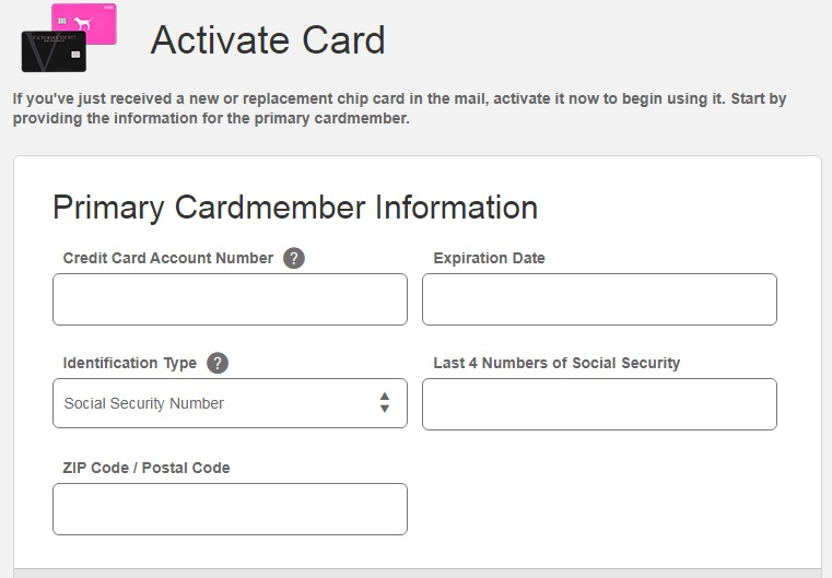 comenity.net/victoriassecret/activate (Victoria's Secret Credit Card)