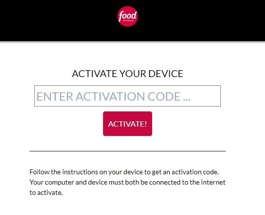Activate Food Network Channel on Your Favorite Device